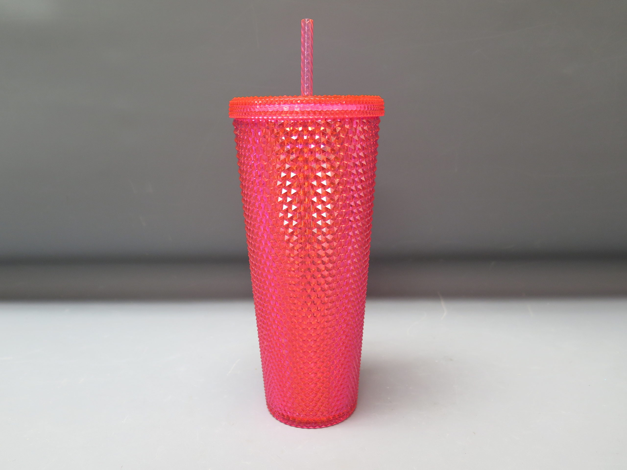 New Starbucks Neon Pink Studded Cold Cup Tumbler Winter 2019 24 Oz Ezauctioning